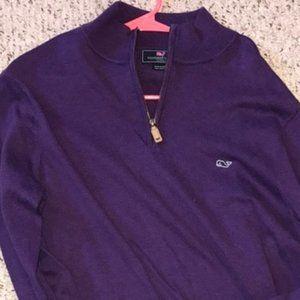 VINEYARD VINES ¼ Zip Cotton Pullover w/ Whale Logo